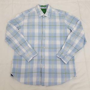 Tommy Bahama Casual Shirt Mens Small Blue Plaid